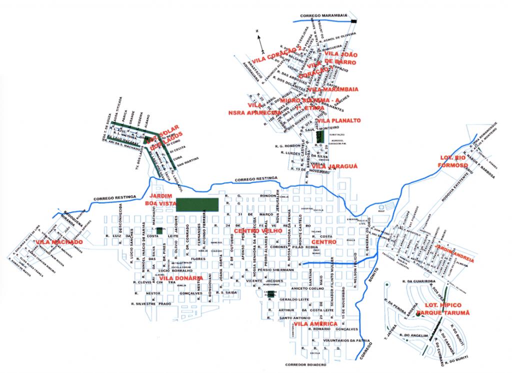 Mapa de Bonito - Mato Grosso do Sul