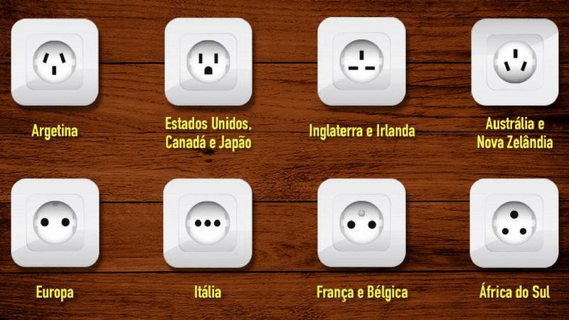 Tomadas e Eletrônicos no Exterior | 1001 Dicas de Viagem