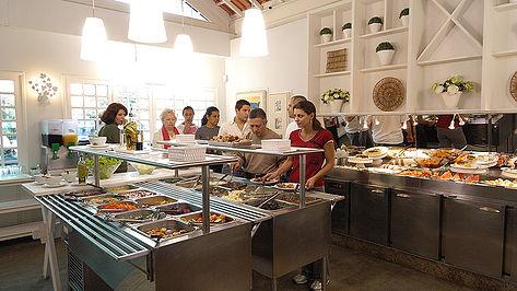 Buffet Vegetariano no Moema Natural - Unidade Jericoacoara. Foto: Divulgação.