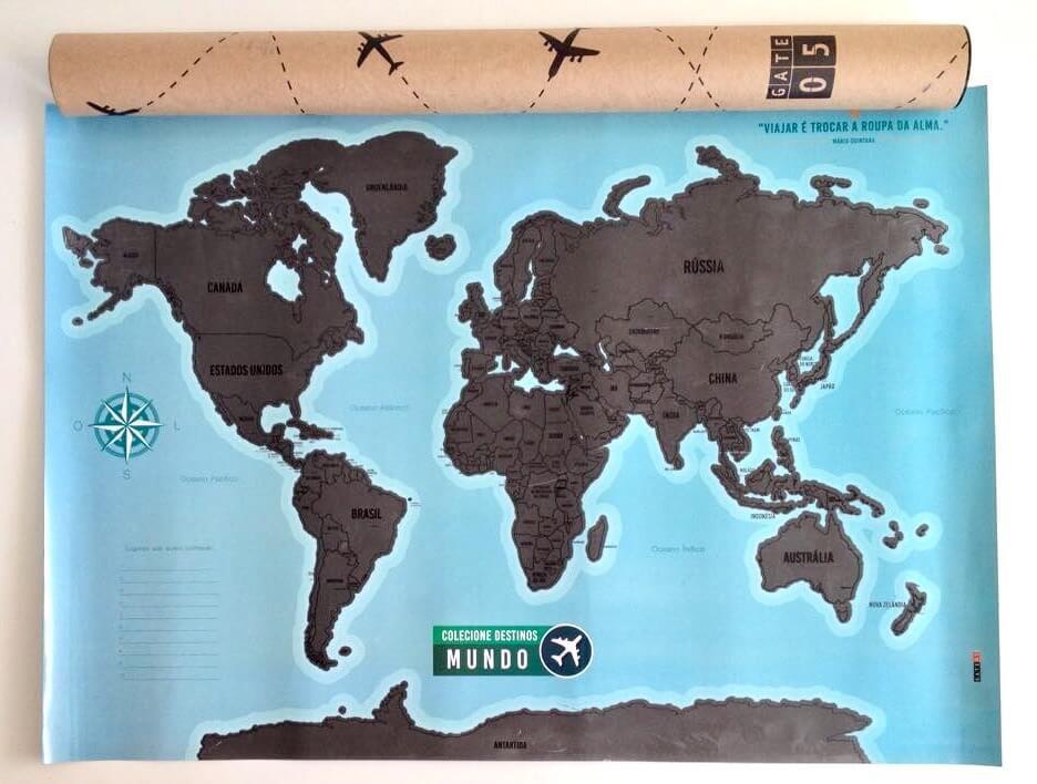 Artigos de Viagem - Mapa Mundi Raspadinha Gate05