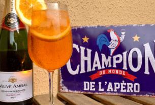 Spritz Français Veuve Ambal Crémant de Bourgogne   1001 Dicas de Viagem
